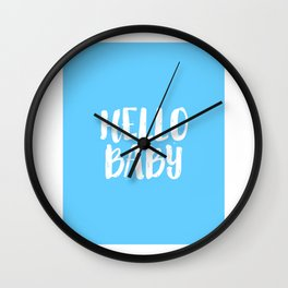 Nursery Decor Baby Room Decor Baby Boy Gift Newborn Hello Baby Hello Sign Nursery Wall Art Kids Gift Wall Clock