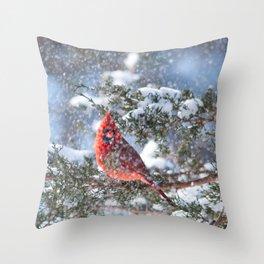 Let It Snow (Northern Cardinal) Throw Pillow