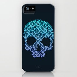 Labyrinthine Skull - Neon iPhone Case