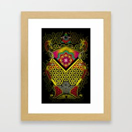 Sacred Geometry for your daily life - ALEPH KYBALION EYE Framed Art Print