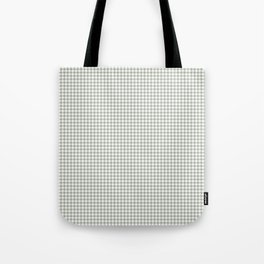 Desert Sage Grey Green and White Houndstooth Check Tote Bag
