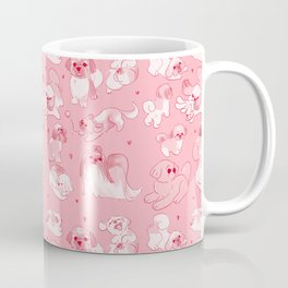 Love Is Stored in The Shih Tzu repeating pattern Coffee Mug