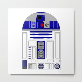 R2D2 StarWars Robot Metal Print