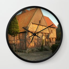 Old Architecture Of Ystad Wall Clock