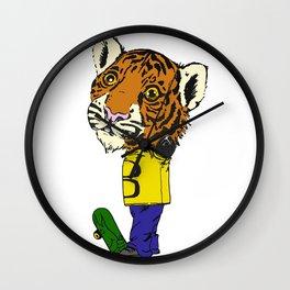Skater Tiger Wall Clock