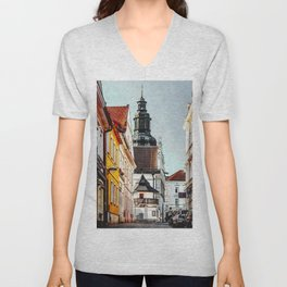 Stribro Czechia art #stribro Unisex V-Neck
