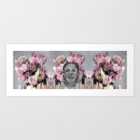 asap rocky Art Prints featuring ASAP Rocky Sketch_KW_Florals by Lulumur_