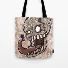 Little piece of my heart for the Giant skull Tote Bag