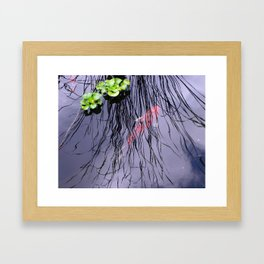 GoldFish In The Pond By Annie Zeno Framed Art Print