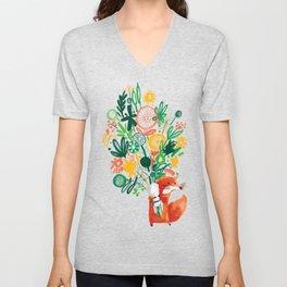 Flower Delivery Unisex V-Neck
