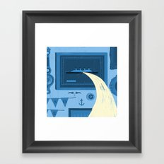 There's a leak Framed Art Print