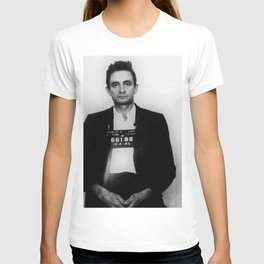 Johnny Cash Mug Shot Country Music T-shirt