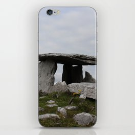 Poulnabrone Dolmen with Flowers iPhone Skin