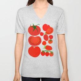 Tomato Harvest Unisex V-Neck