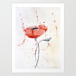 Poppy no 1 Art Print