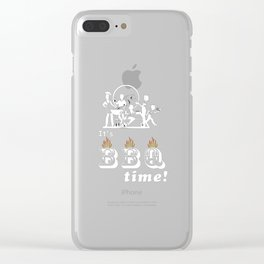 Barbecue Party Time Clear iPhone Case