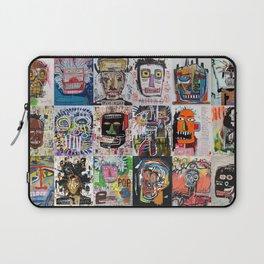 Basquiat Faces Montage Laptop Sleeve