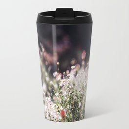 Pink and White Flowers Travel Mug