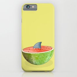 Shark Lurking in the Watermelon iPhone Case