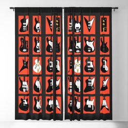 The Classic Electric Guitar Gallery Blackout Curtain