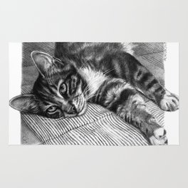 Resting Kitty G064 Rug