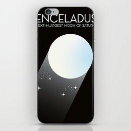 Enceladus Saturn moon Space Art. iPhone Skin