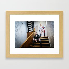 Power Girl and Black Canary 2 Framed Art Print