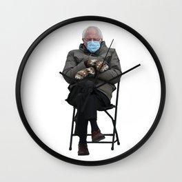 Unbothered Bernie Sanders Wall Clock