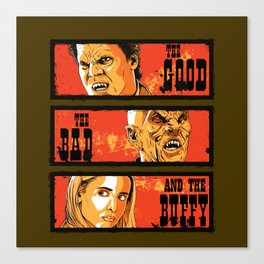 The Good The Bad The Buffy Canvas Print