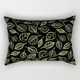 Green and black leaves pattern Rectangular Pillow