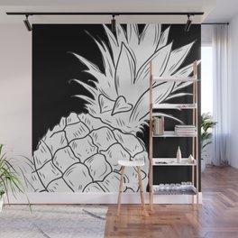 BLACK & WHITE PINEAPPLE Wall Mural