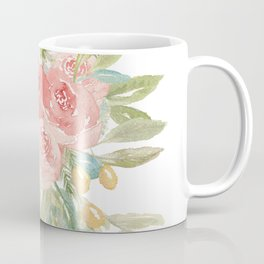 Loose Boho Watercolor Florals Coffee Mug