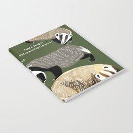 Badgers Meles Genus Poster Notebook