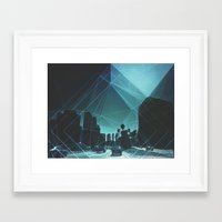 tron Framed Art Prints featuring tron. by Broc James