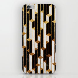 Marble Skyscrapers - Black, White and Gold iPhone Skin