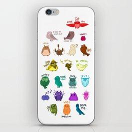 Rainbow of Owls iPhone Skin