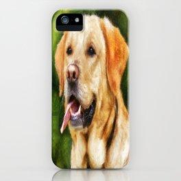 Golden Labrador iPhone Case