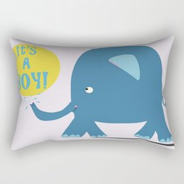 It's A BOY! Rectangular Pillow