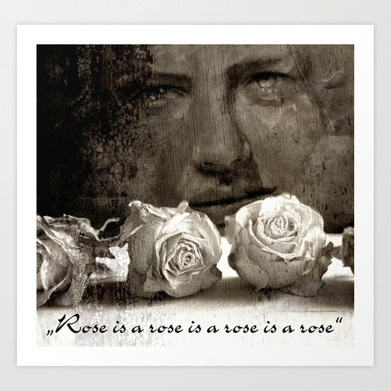 ROSE - vintage version Art Print
