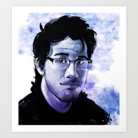 markiplier Art Prints featuring Markiplier by RootisTabootus