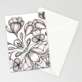 light broun flowers mandala Stationery Cards