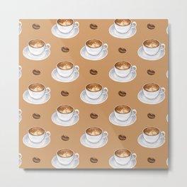 Coffee Cups - tan Metal Print