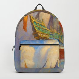 The Golden Galleon, 1922 by Newell Convers Wyeth Backpack