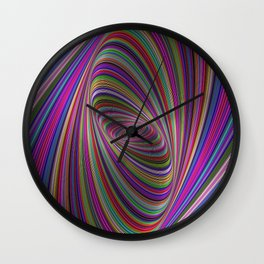 Psychedelic colors Wall Clock