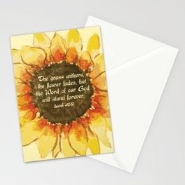 The Word of our God will stand forever Stationery Cards