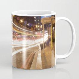 Edinburgh West End light trails Coffee Mug