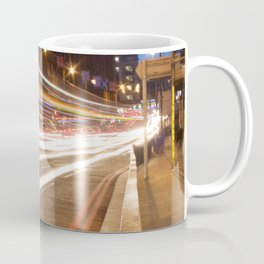 Edinburgh West End light trails Coffee Mug