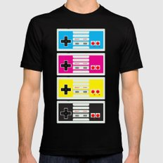 CMYK Retro Gamer  Mens Fitted Tee X-LARGE Black