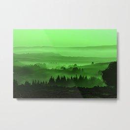 My road, my way. Green. Metal Print