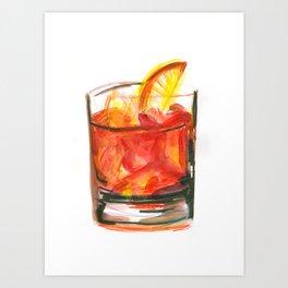 Negroni Cocktail Hour Art Print